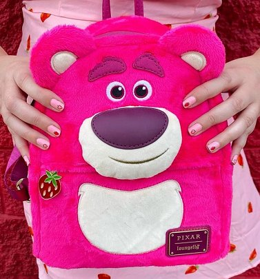 Loungefly Disney Pixar Toy Story Lotso Cosplay Sherpa Mini Backpack
