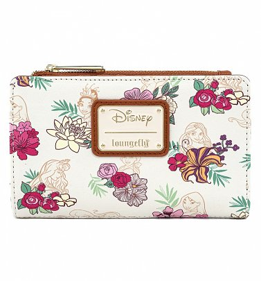 Loungefly Disney Princess Floral Zip Wallet