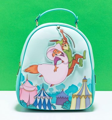 Loungefly Disney Robin Hood Robin Rescues Maid Marian Mini Backpack