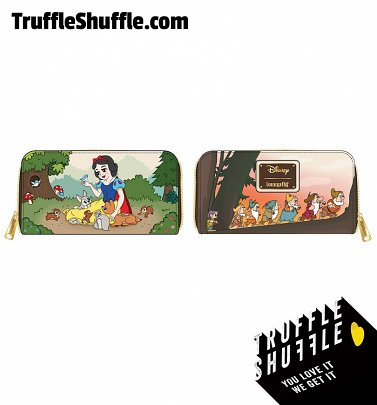 Loungefly Disney Snow White And The Seven Dwarfs Scene Zip Around Wallet