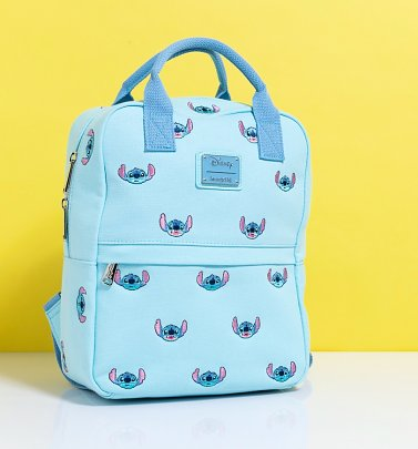 Loungefly Stitch Embroidered Canvas Backpack