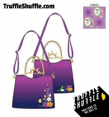 Loungefly Disney Tangled Floating Lights Hardware Crossbody Bag