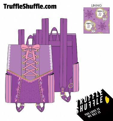Loungefly Disney Tangled Rapunzel Dress Cosplay Mini Backpack