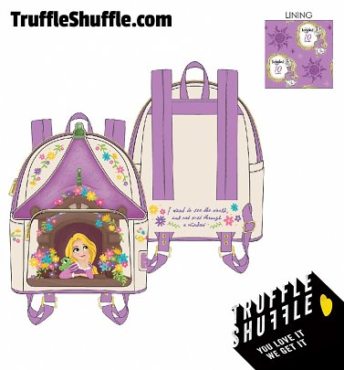 Loungefly Disney Tangled Tower Scene Mini Backpack