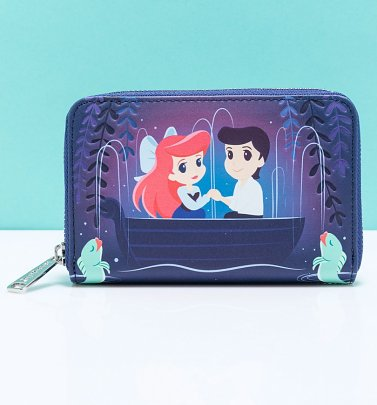 Loungefly Disney The Little Mermaid Gondola Scene Zip Around Wallet