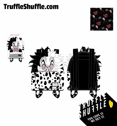 Loungefly Disney Villains Cruella De Vil Spots Cosplay Mini Backpack