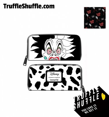 Loungefly Disney Villains Cruella De Vil Spots Cosplay Zip Around Wallet