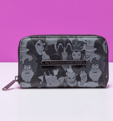 Loungefly Disney Villains Debossed All Over Print Zip Around Wallet