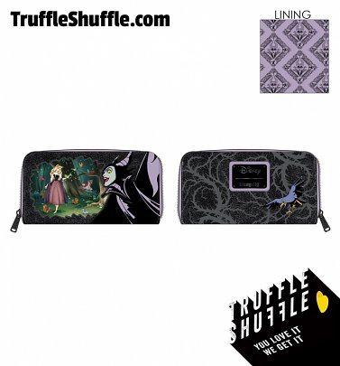 Loungefly Disney Villains Scene Maleficent Sleeping Beauty Zip Around Wallet
