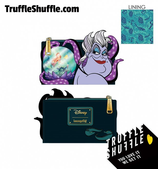 Loungefly Disney Villains Scene Ursula Crystal Ball Flap Wallet
