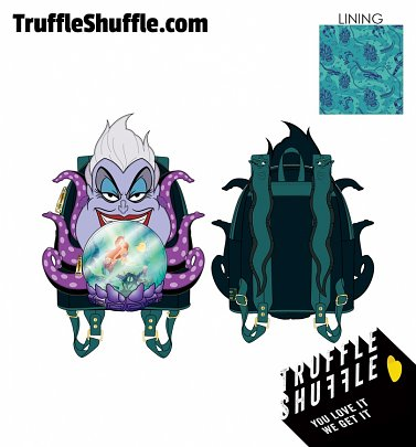 Loungefly Disney Villains Scene Ursula Crystal Ball Mini Backpack