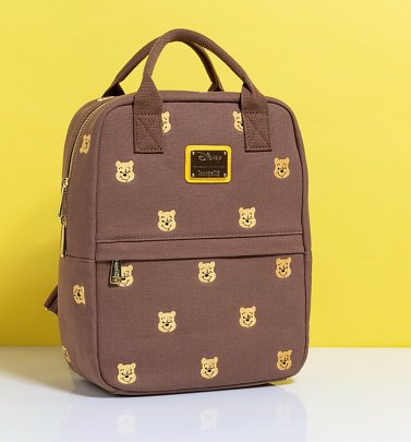 Loungefly Winnie The Pooh Embroidered Canvas Backpack