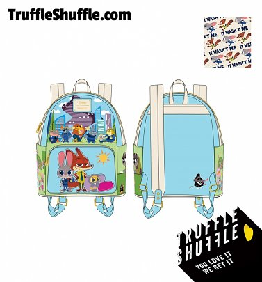 Loungefly Disney Zootopia Chibi Group Mini Backpack