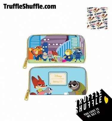 Loungefly Disney Zootopia Chibi Group Zip Around Wallet