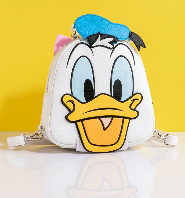 Loungefly Disney Donald Duck Daisy Duck Reversible Mini Backpack