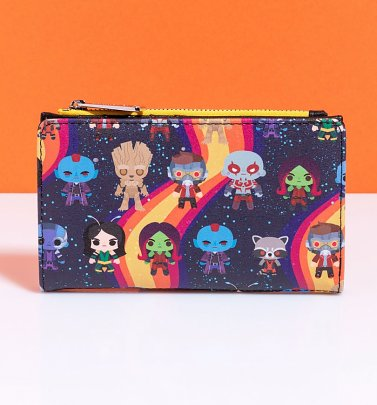 Loungefly Guardians of the Galaxy Chibi All Over Print Rainbow Wallet
