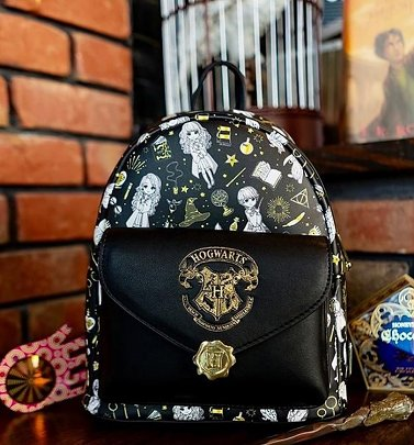 Loungefly Harry Potter Magical Elements All Over Print Mini Backpack