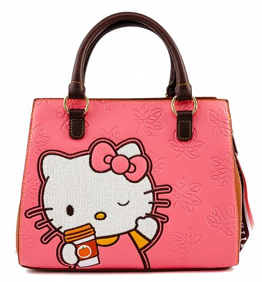 Loungefly Hello Kitty Pumpkin Spice Latte Wave Crossbody Bag