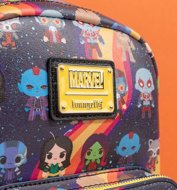 Loungefly Marvel Guardians of the Galaxy Chibi Rainbow Mini Backpack