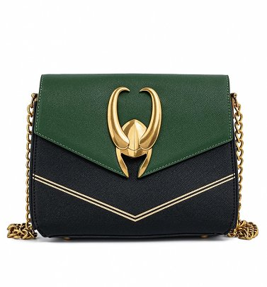Loungefly Marvel Loki Hardware Crossbody Bag