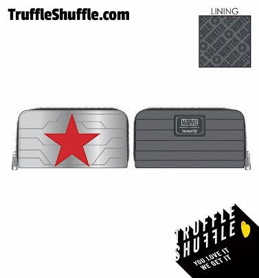 Loungefly Marvel Winter Soldier Cosplay Zip Around Wallet