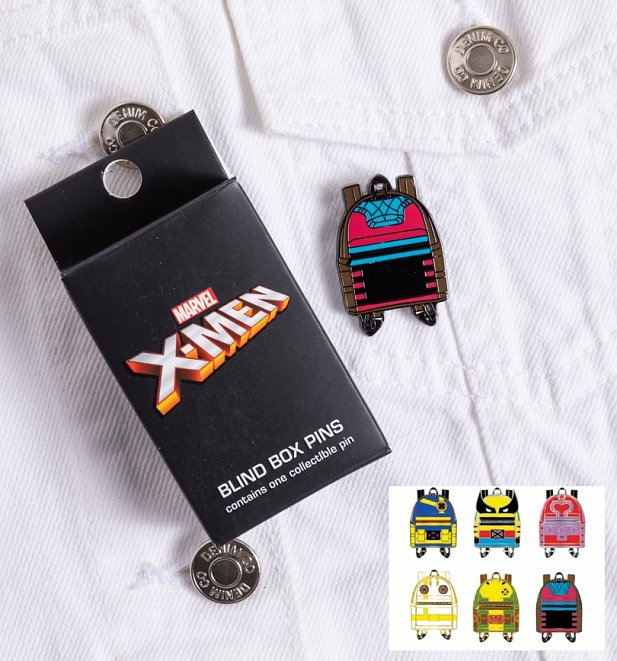 Loungefly Marvel X-Men Backpack Blind Box Enamel Pin