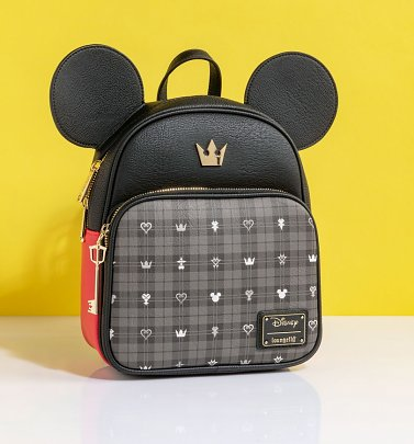 Loungefly Disney Mickey Mouse Kingdom Hearts Mickey Key Convertible Backpack