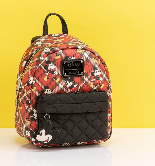 Loungefly Mickey Mouse Tartan Mini Backpack
