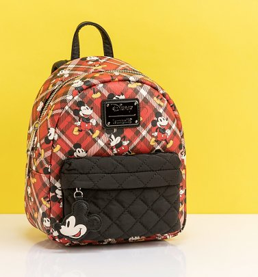 Loungefly Disney Mickey Mouse Tartan Mini Backpack