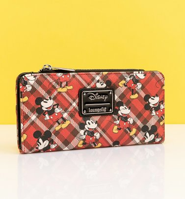 Loungefly Disney Mickey Mouse Tartan Wallet