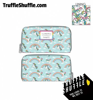 Loungefly My Little Pony Starshine Rainbow All Over Print Zip Around Wallet