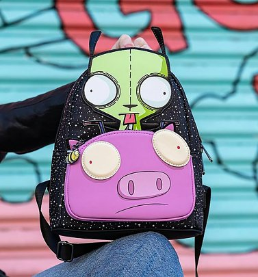 Loungefly Nickelodeon Invader Zim Gir Pig Doom Mini Backpack