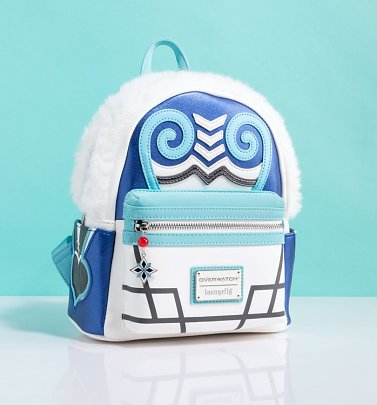 Loungefly Overwatch Mei Cosplay Mini Backpack With Faux Fur Trim