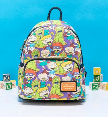 Loungefly Rugrats All Over Print Mini Backpack