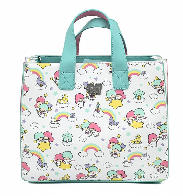 Loungefly Sanrio Little Twin Stars Rainbow All Over Print Crossbody Bag