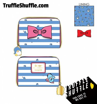 Loungefly Sanrio Tuxedo Sam Striped Zip Around Wallet