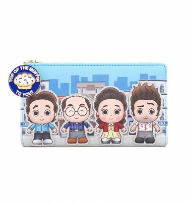 Loungefly Seinfeld Chibi City Flap Wallet