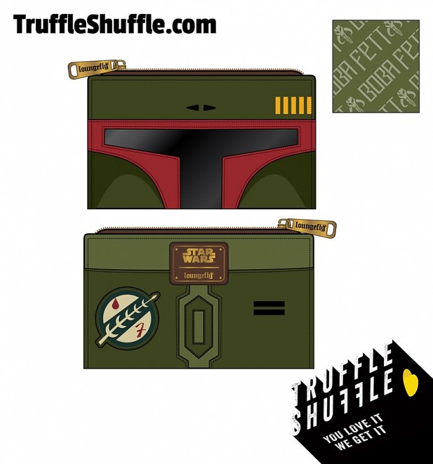 Loungefly Star Wars Boba Fett Flap Wallet