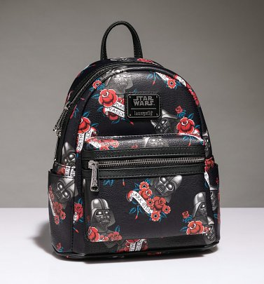 Loungefly Star Wars Darth Vader Tattoo All Over Print Mini Backpack