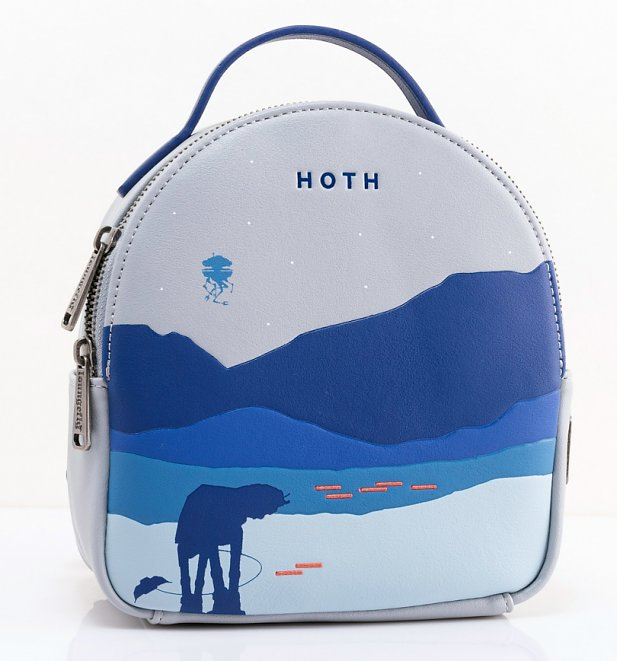 Loungefly Star Wars Hoth Blue Mini Backpack With Purse
