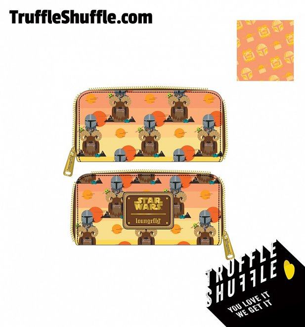 Loungefly Star Wars Mandalorian Bantha Ride All Over Print Zip Around Wallet
