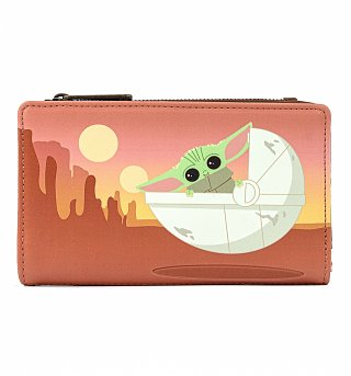 Loungefly Star Wars Mandalorian The Child Baby Yoda Wait For Me Wallet
