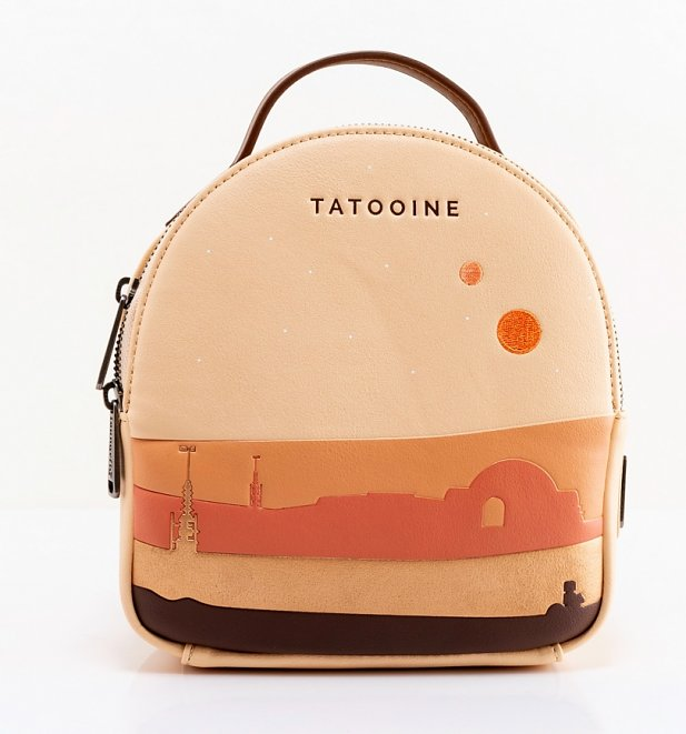 Loungefly Star Wars Tatooine Ecru Mini Backpack With Purse