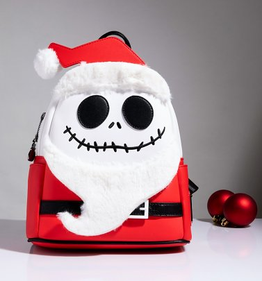Loungefly The Nightmare Before Christmas Santa Jack Cosplay Mini Backpack