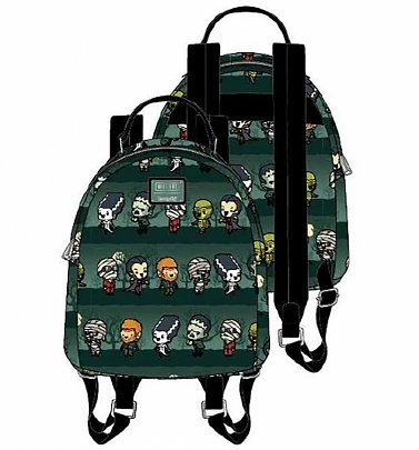 Loungefly Universal Monsters Chibi All Over Print Mini Backpack