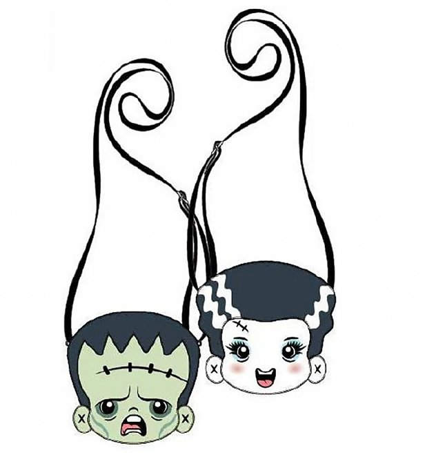 Loungefly Universal Monsters Frankie and Bride Two Sided Crossbody Bag