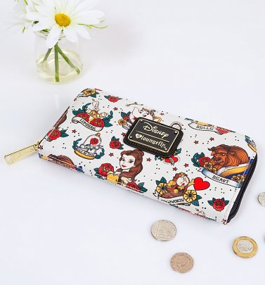 Loungefly Disney Beauty And The Beast Tattoo Wallet