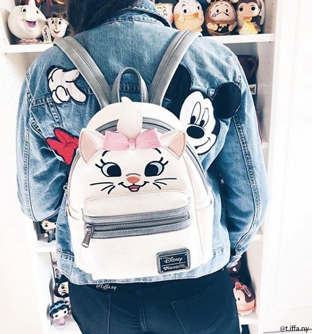 Loungefly x Disney Marie Big Face Mini Faux Leather Backpack