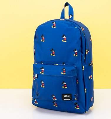 Loungefly Disney Mickey Mouse Print Blue Backpack