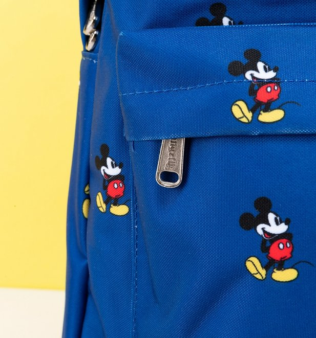 Loungefly x Disney Mickey Mouse Print Blue Backpack